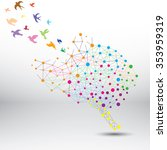 creative brain colorful... | Shutterstock .eps vector #353959319