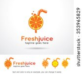 fresh juice logo template... | Shutterstock .eps vector #353965829