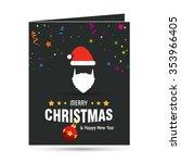 cute snowman christmas... | Shutterstock .eps vector #353966405