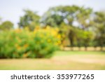 abstract blur city park bokeh... | Shutterstock . vector #353977265