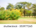 abstract blur city park bokeh... | Shutterstock . vector #353977265
