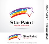 star paint logo template design ...