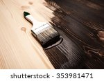 half painted wooden surface.... | Shutterstock . vector #353981471