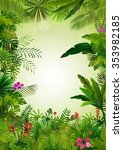 tropical background beautiful | Shutterstock . vector #353982185
