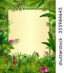 tropical background with... | Shutterstock .eps vector #353984645
