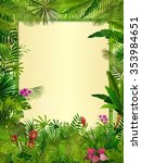 tropical background with... | Shutterstock . vector #353984651