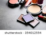 cosmetics on dark background | Shutterstock . vector #354012554