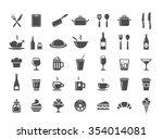 food and drinks icon set.... | Shutterstock .eps vector #354014081
