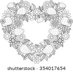 decorative wreath in the form... | Shutterstock . vector #354017654