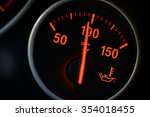coolant temperature gauge on a... | Shutterstock . vector #354018455