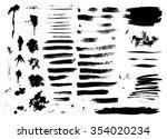 set of ink hand drawn brush... | Shutterstock . vector #354020234