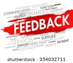 word cloud with feedback... | Shutterstock . vector #354032711