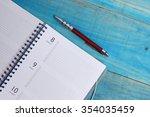 planner and pen | Shutterstock . vector #354035459