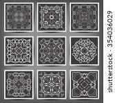 set of elegant floral monogram... | Shutterstock .eps vector #354036029