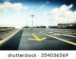 rooftop parking after the rain | Shutterstock . vector #354036569