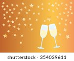 celebration of the new year... | Shutterstock . vector #354039611