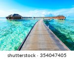beach in maldives | Shutterstock . vector #354047405