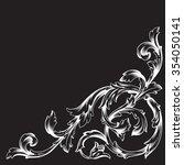 vintage baroque frame scroll... | Shutterstock .eps vector #354050141
