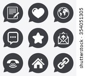 mail  contact icons. favorite ...   Shutterstock .eps vector #354051305