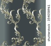 pattern with baroque branch... | Shutterstock .eps vector #354058961