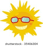 illustration of sun on white | Shutterstock .eps vector #35406304
