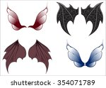 set of wings of magic beings  ...