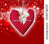 red heart on bokeh background | Shutterstock . vector #354078029