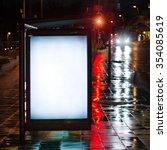 blank bus stop advertising... | Shutterstock . vector #354085619