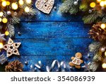 christmas background with... | Shutterstock . vector #354086939