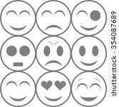 set of emoticons. simple... | Shutterstock .eps vector #354087689