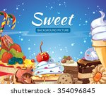sweets  abstract background...   Shutterstock .eps vector #354096845