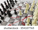 chess. white board with chess... | Shutterstock . vector #354107765