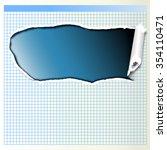 a sheet of paper ripped | Shutterstock . vector #354110471