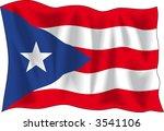 waving flag of puerto rico... | Shutterstock .eps vector #3541106