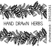 hand drawn horizontal border of ... | Shutterstock .eps vector #354113261