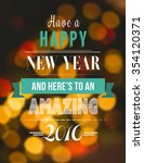new year graphic against close... | Shutterstock . vector #354120371