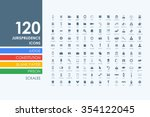 jurisprudence vector set of... | Shutterstock .eps vector #354122045