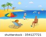 Family Having A Beach Holiday