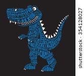 dinosaur illustration ... | Shutterstock .eps vector #354128027