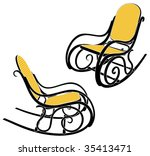 ... Rocking Chair Silhouette In Two Different Sights ...