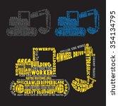 building truck typography  t... | Shutterstock .eps vector #354134795