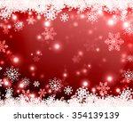 snowflakes and stars descending ... | Shutterstock . vector #354139139