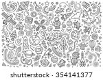 sketchy vector hand drawn... | Shutterstock .eps vector #354141377