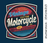 vintage motorcycle typography ... | Shutterstock .eps vector #354146315