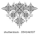 tribal art boho hand drawn...   Shutterstock .eps vector #354146537