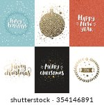 christmas and new year cards... | Shutterstock . vector #354146891