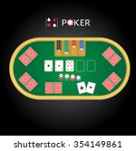 illustration for a poker game... | Shutterstock .eps vector #354149861