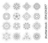 magic geometry signs collection.... | Shutterstock .eps vector #354154397