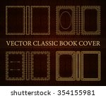 vector classical book cover.... | Shutterstock .eps vector #354155981
