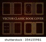vector classical book cover.... | Shutterstock .eps vector #354155981